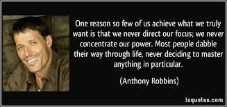 Anthony Robbins So few achieve
