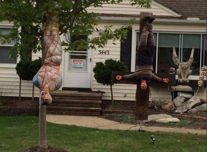 Halloween Near An Elementary School, Can It Go Too Far?