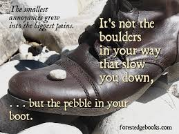 pebble in your boot