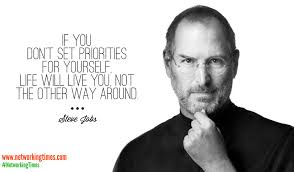 Steve Jobs prioritize